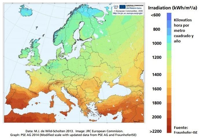 placas solares fotovoltaicas españa alemania
